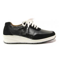 Дамски ортопедични обувки от естествена кожа SOFTMODE 1171 черен | Дамски обувки на платформа