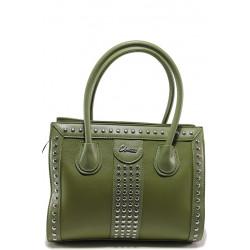 Стилна дамска чанта ФР 61312 зелен | Дамска чанта