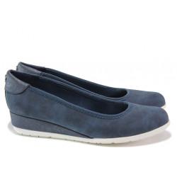 """Дамски обувки на платформа с """"мемори"""" пяна S.Oliver 5-22302-24 син   Немски обувки на платформа"""