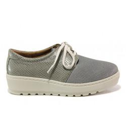 Дамски ортопедични обувки от естествена кожа SOFTMODE 2301 Connie сив | Дамски обувки на платформа
