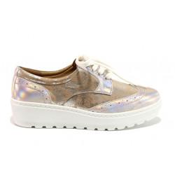 Дамски ортопедични обувки от естествена кожа SOFTMODE 2305 Cheryl бронз | Дамски обувки на платформа