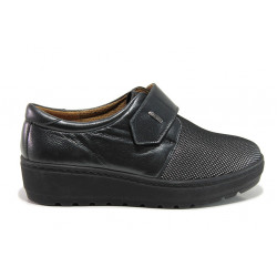Дамски ортопедични обувки от естествена кожа SOFTMODE 2302 Charlena черен | Дамски обувки на платформа