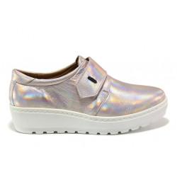 Дамски ортопедични обувки от естествена кожа SOFTMODE 2302 Charlena розов | Дамски обувки на платформа