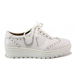 Дамски ортопедични обувки от естествена кожа SOFTMODE 2312 Megan бял | Дамски обувки на платформа