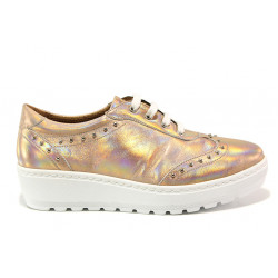 Дамски ортопедични обувки от естествена кожа SOFTMODE 2312 Megan бронз | Дамски обувки на платформа