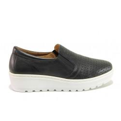 Дамски ортопедични обувки от естествена кожа SOFTMODE 2315Z Mia черен | Дамски обувки на платформа