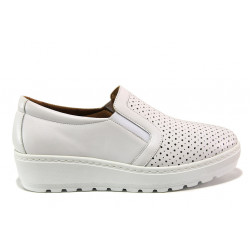Дамски ортопедични обувки от естествена кожа SOFTMODE 2315Z Mia бял | Дамски обувки на платформа