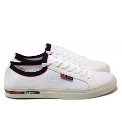 Мъжки спортни обувки S.Oliver 5-13620-24 бял   Мъжки немски обувки