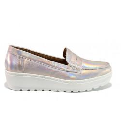 Дамски ортопедични мокасини от естествена кожа SOFTMODE 2316 Mira розов | Дамски обувки на платформа