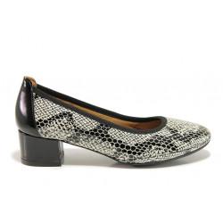 Дамски ортопедични обувки от естествена кожа SOFTMODE 695701 Nadia черен | Дамски обувки на среден ток