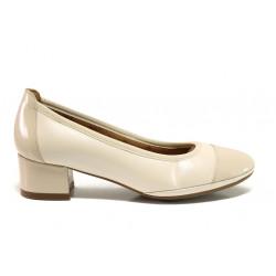 Дамски ортопедични обувки от естествена кожа SOFTMODE 695702 Noelle бежов   Дамски обувки на среден ток
