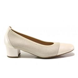 Дамски ортопедични обувки от естествена кожа SOFTMODE 7097 Ella бежов | Дамски обувки на среден ток