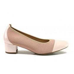 Дамски ортопедични обувки от естествена кожа SOFTMODE 7097 Ella розов | Дамски обувки на среден ток