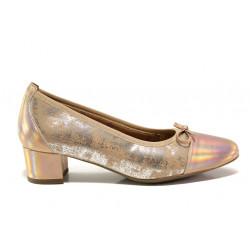 Дамски ортопедични обувки от естествена кожа SOFTMODE 5602 Gemma бронз | Дамски обувки на среден ток