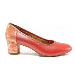 Дамски ортопедични обувки от естествена кожа SOFTMODE 1201 Kaylee черврн | Дамски обувки на среден ток
