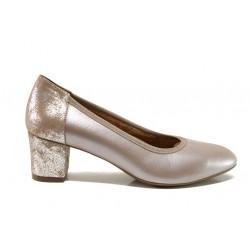 Дамски ортопедични обувки от естествена кожа SOFTMODE 1201 Kaylee бежов | Дамски обувки на среден ток