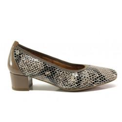 Дамски ортопедични обувки от естествена кожа SOFTMODE 7096 Madison визон | Дамски обувки на среден ток
