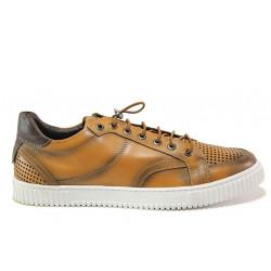 Мъжки ортопедични обувки от естествена кожа SOFTMODE 104 Jordan кафяв | Мъжки ежедневни обувки