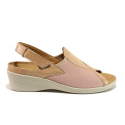 Дамски ортопедични сандали от естествена кожа SOFTMODE 6951 Ally розов   Дамски сандали на платформа