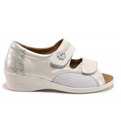 Дамски ортопедични сандали от естествена кожа SOFTMODE 6957 Stacey бял | Дамски сандали на платформа