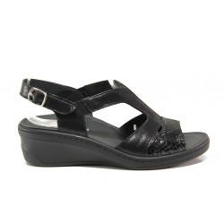 Дамски ортопедични сандали от естествена кожа SOFTMODE 1365803 Maeve черен | Дамски сандали на платформа