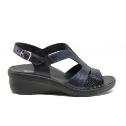 Дамски ортопедични сандали от естествена кожа SOFTMODE 1365803 Maeve син | Дамски сандали на платформа