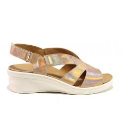 Дамски ортопедични сандали от естествена кожа SOFTMODE 1365804 Macy бронз   Дамски сандали на платформа