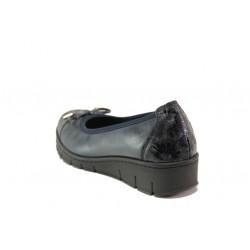 Дамски ортопедични обувки от естествена кожа SOFTMODE 243-00 Tina черен кожа | Равни дамски обувки