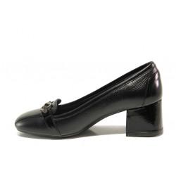 Дамски ортопедични обувки SOFTMODE 333805-00 Franse черен | Дамски обувки на среден ток