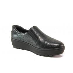 Дамски ортопедични обувки от естествена кожа SOFTMODE 2304-00 Chrissy черен | Дамски обувки на платформа
