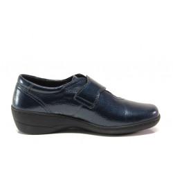 Дамски ортопедични обувки от естествена кожа-лак SOFTMODE 1177-00 Zabrina син | Дамски обувки на платформа