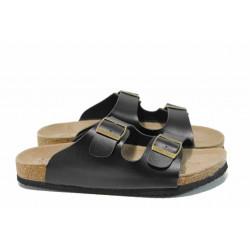 Анатомични дамски чехли АБ 18-02 черен | Дамски равни чехли