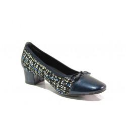 Дамски ортопедични обувки от естествена кожа SOFTMODE 5602-00 Gemma син   Дамски обувки на среден ток