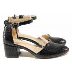 Елегантни дамски обувки ТЯ 100-100 черен   Дамски обувки на среден ток
