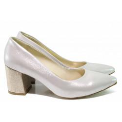 Елегантни дамски обувки ФА 873 бежов-злато | Дамски обувки на висок ток