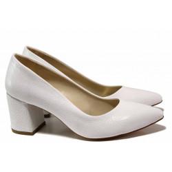 Елегантни дамски обувки ФА 873 бял | Дамски обувки на висок ток