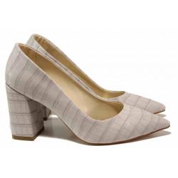 Елегантни дамски обувки ФА 43 св.сив | Дамски обувки на висок ток