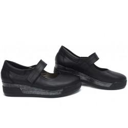 Анатомични български обувки от естествена кожа НЛМ 129-8218 черен кожа | Обувки на платформа