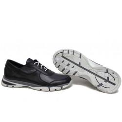 Анатомични български обувки от естествена кожа НЛМ 322-Крос черен-сив | Равни дамски обувки