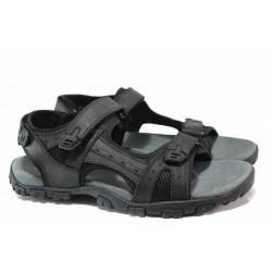 Мъжки сандали с велкро лепенки, висококачествени материали, анатомични / АБ RL06-20 черен гигант