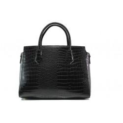 Елегантна дамска чанта с кроко мотив ФР 8584 черен | Дамска чанта