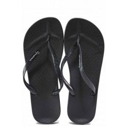 Бразилски анатомични чехли, еластично ходило от висококачествен PVC материал / Ipanema 82591 черен