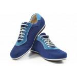 Мъжки спортни обувки, летни, висококачествен текстил, български / МН Matt син