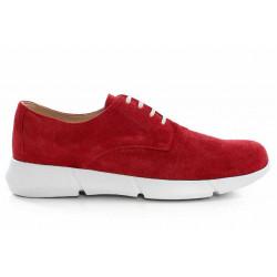 Български спортни обувки, дамски, естествен велур, еластично ходило / МН Olga червен