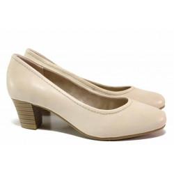 Стилни дамски обувки, естествена кожа, леки, гъвкави / Jana 8-22450-26H бежов