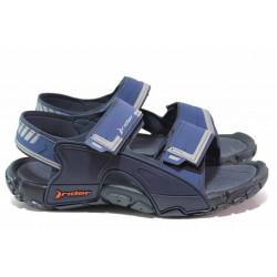 Мъжки сандали, лепенки, анатомични, бразилски / Rider 82816 син / MES.BG