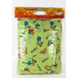 100% Памук Бебешки спален комплект с Мечо Зелен