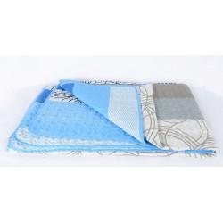 Двулицево шалте Светло синьо и Сиво