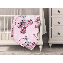 Бебешко одеяло Розово МЕЧЕ 70/90