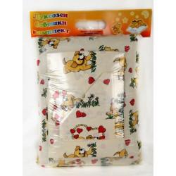 100% Памук Бебешки спален комплект Бау Бау